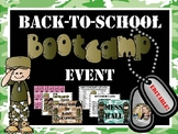Back to School Boot Camp Style with Dog Tags and MORE! EDITABLE!