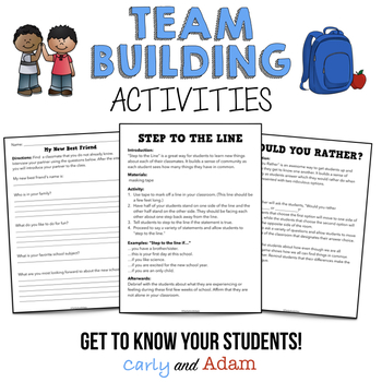Back to School Team Building Games and Activities