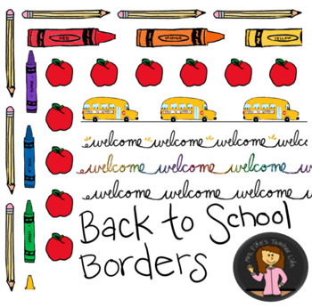 Back to School Border Bundle - Colored