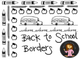 Back to School Border Bundle - Black & White-Perfect for T