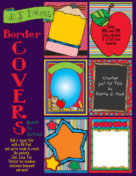 Back to School Border Covers Clip Art Download