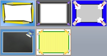 Back to School Borders and Background graphics - Commercial Use