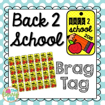 Back to School Brag Tag - Forever Freebie!
