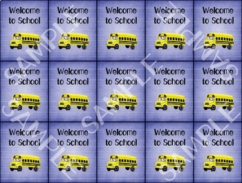 Back to School Brag Tags - 1 designs - 15 per pg - Behavior Incentive
