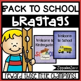 Back to School Brag Tags - 18 different designs - 15 per pg - Behavior Incentive