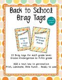 Back to School Tags- Editable