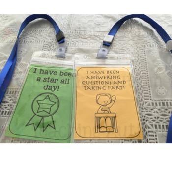 Back to School Reward Cards