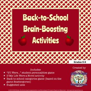FREEBIE Back-to-School Brain-Boosting Activities