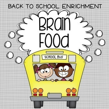 "Back to School ""Brain Food!"" - Enrichment Activities for C"