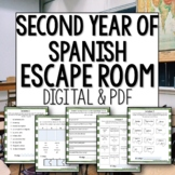 Back to School Break Out Room Beginner Level Spanish Revie