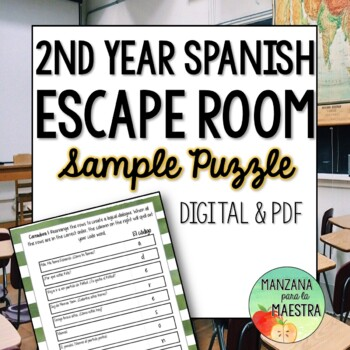Spanish Back to School Break out Free Sample Lock
