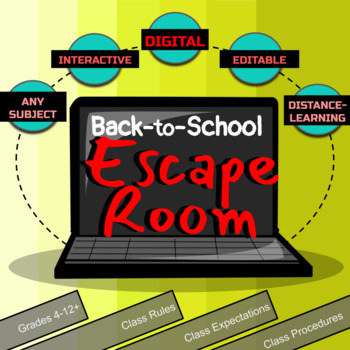 Back to School Breakout Activity and Escape Room Ice Breaker, Any Subject Area