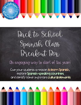 Back to School Breakout Box for Spanish Class