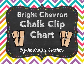 Back to School - Bright Chevron and Chalk Clip Chart