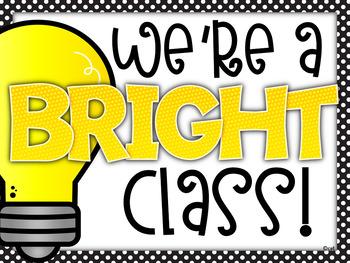 Back to School Bright Class Bulletin Board ~ Editable!