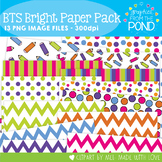 Back to School Bright Paper  Pack - Graphics for Teachers