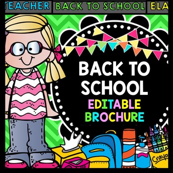 Back to School Brochure {100% Editable} {Lots of Colors to Choose From}