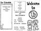 Back to School Brochure 1st Grade Editable