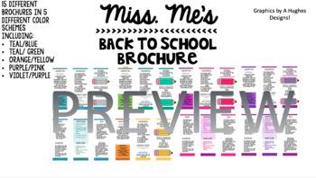 Back to School Brochure