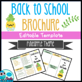 Back to School Brochure - Cute Pineapple Themed - EDITABLE