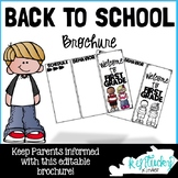 Back to School Brochure - EDITABLE