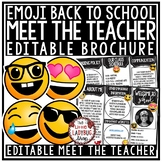 Emoji Meet the Teacher Template Editable: Back to School Night, Open House Form