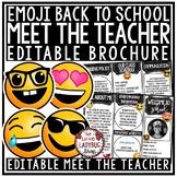 Emoji Meet the Teacher Template Editable: Back to School N