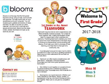 Back to School Brochure {Editable}