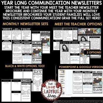 Back to School Brochure for Meet the Teacher & Open House Pamphlet [EDITABLE]