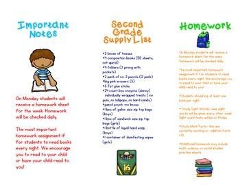 Back to School Brochure *Editable*