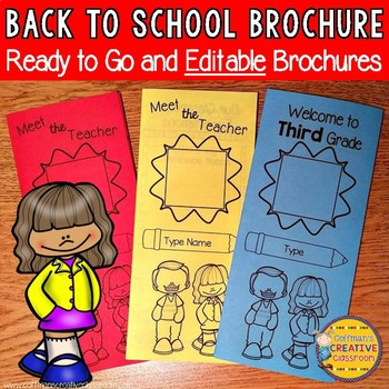 Back to School Brochure Editable