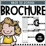 Back to School Brochure   Editable
