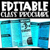 Back to School Brochure Editable Open House or Meet the Te