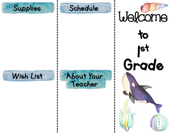 Back to School Brochure - Ocean Themed - EDITABLE