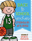 Back to School Brochure-Sports Theme {EDITABLE}