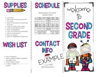 Back to School Brochure-Superhero Themed {EDITABLE}