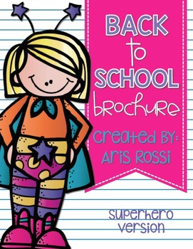 Back to School Brochure-Superhero Themed {EDITABLE}