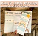 Back to School Brochure/ Syllabus (Rainbow Theme)