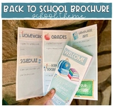 Back to School Brochure/ Syllabus (School Theme)