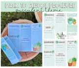 Back to School Brochure/ Syllabus (Succulent Theme)