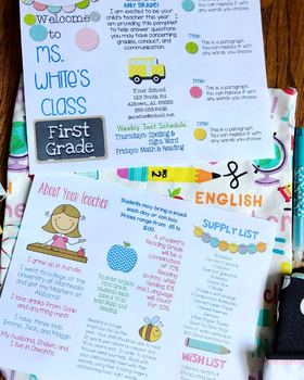 editable brochure template teaching resources teachers pay teachers