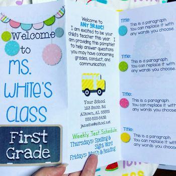 Back to School Brochure Template