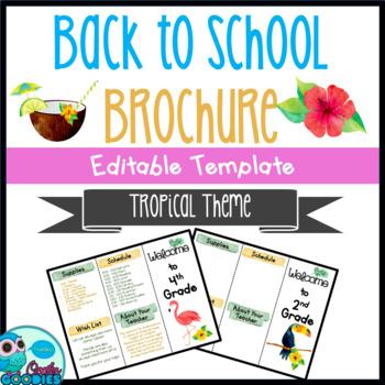 Back to School Brochure - Tropical Themed - EDITABLE