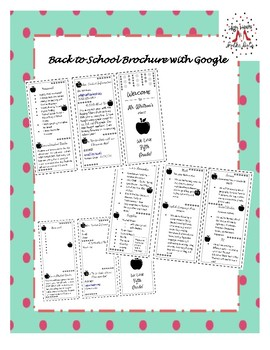 Back to School Brochure - With Google