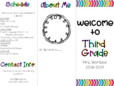 Back-to-School Brochure *editable*
