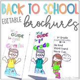 Back to School Brochures Editable Back to School Activity Google Classroom