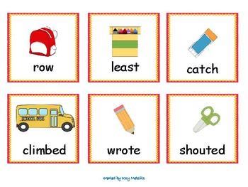 Back to School Broken Pencil Sight Word Game Fry List 8