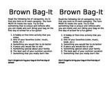 Back to School Brown Bag Activity