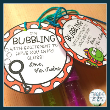 Editable Bubble Wand Gift Tags