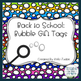 Editable Bubble Wand Gift Tags
